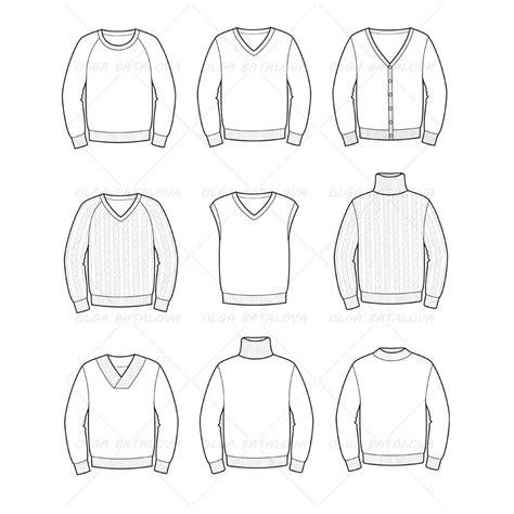 sweater template s sweater fashion flat templates illustrator stuff