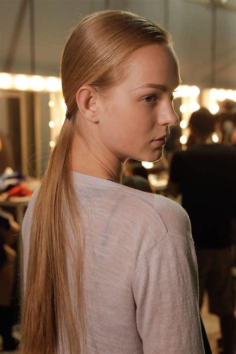elegant sleek straight hairstyles  women long medium short hair pretty designs