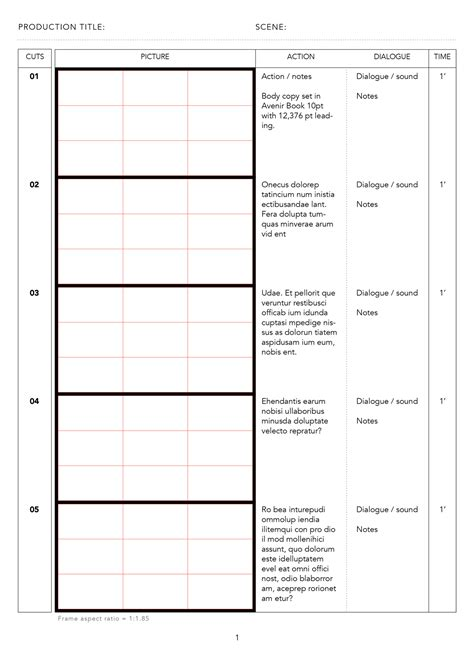 Design Storyboard Template by Japanese Anime Storyboard Templates Storyboards