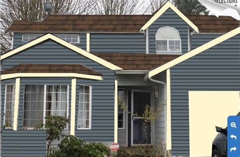 pacific blue paint with burnt sienna roof deciding house