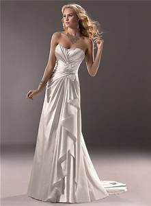 civil slim a line sweetheart satin wedding dress with With wedding dress ruching