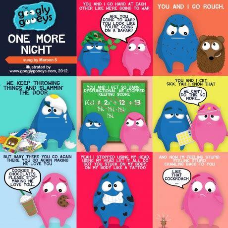 maroon 5 you and i go hard lyrics illustrated one more night lyrics sung by maroon 5