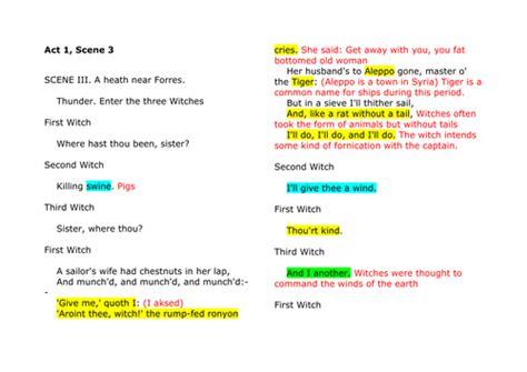Macbeth Worksheets Act 1 Scene 1