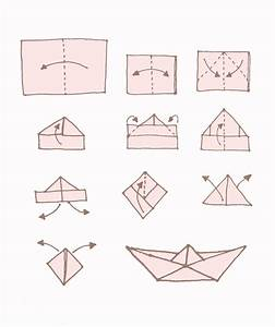 Origami Kranich Anleitung : dekorieren mit papier hier ist die einfache falt anleitung f r origami schiffchen ~ Frokenaadalensverden.com Haus und Dekorationen