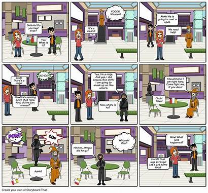 Onomatopoeia Ninja Storyboard Onomatopeya Wizard Examples Storyboardthat