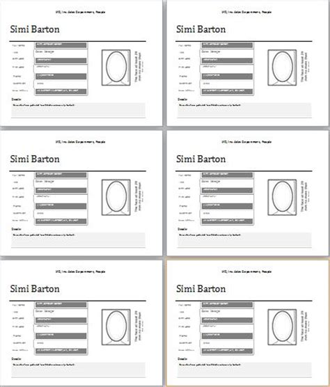 employee profile template  ms word word excel templates