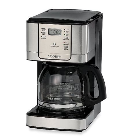 Also, this electric coffeemaker is easily operated, enabling you to simply prepare great coffee with consistency. Mr. Coffee® JWX Series 12-Cup Programmable Stainless Steel Coffee Maker