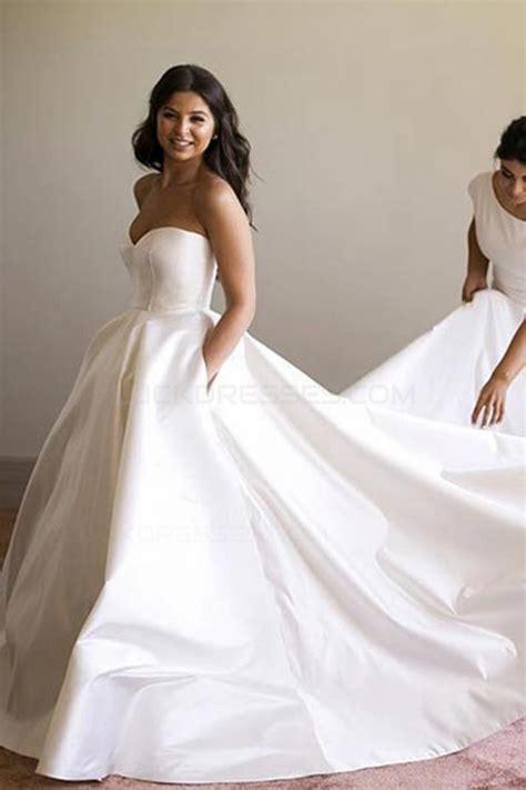 Ball Gown Sweetheart Simple Elegant Wedding Dresses Bridal