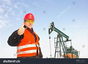 Oil Worker Orange Uniform Helmet On Stock Photo 175035452 ...
