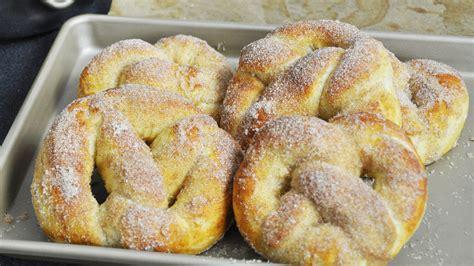 cuisine cannelle recette des pretzels ou bretzels briochés sucre cannelle