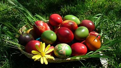 Easter Desktop Happy Wallpapers Eggs Colourful Background