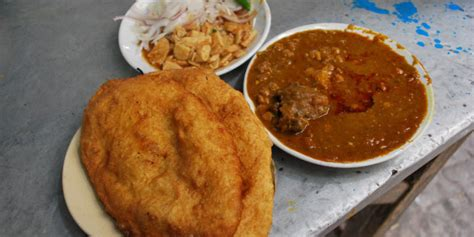 Chole bhature needs no introduction. Best Street Food In CP - Bhogal Chole Bhature Wala