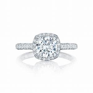 Tacori engagement rings petite crescent setting 075ctw for Wedding rings tacori