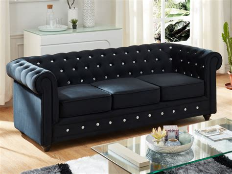 canapé tendance canapé et fauteuil velours 9 coloris chesterfield