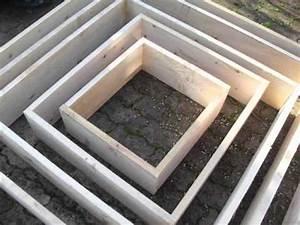 fabrication de cadres et pyramides pour jardin youtube With modele de rocaille pour jardin