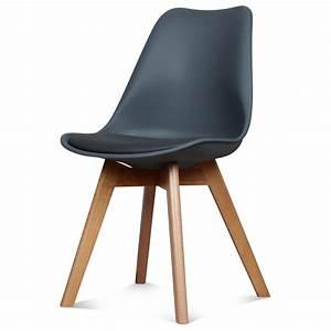 Chaise Gris Anthracite : 1 chaise design scandinave gris anthracite scandy retrait en magasin iddecoshop ~ Teatrodelosmanantiales.com Idées de Décoration
