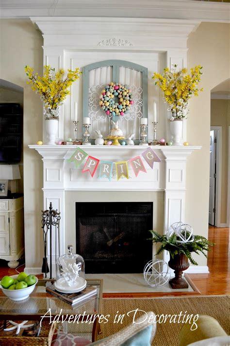 easter mantel decor adventures in decorating spring easter d 233 cor 2014 lovely http adventuresindecorating1