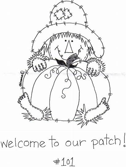 Pumpkin Patch Jar Scarecrow Coloring Fall Pages