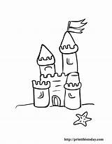 Coloring Pages Castle Summer Printable Sand Clip Beach Disney Preschool Printthistoday Castles Clipart Children Drawing Simple Colour Ambulance Library Colouring sketch template