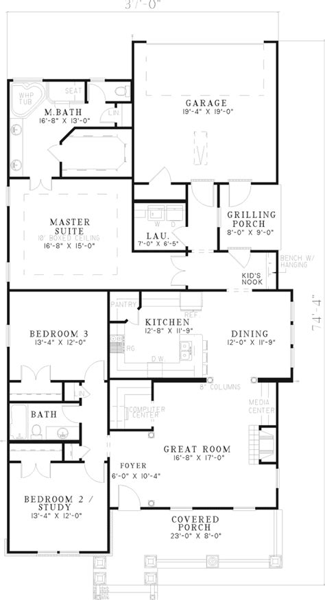 floor plans and more hilgard arts and crafts home plan 055d 0532 house plans and more
