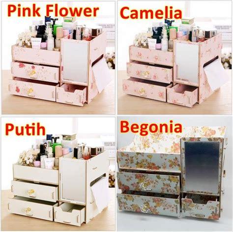 Rak Meja Kosmetik jual rak kosmetik r41 kotak makeup meja rias kayu ada