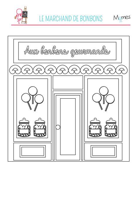 les jeux de la cuisine coloriage le magasin de bonbons momes