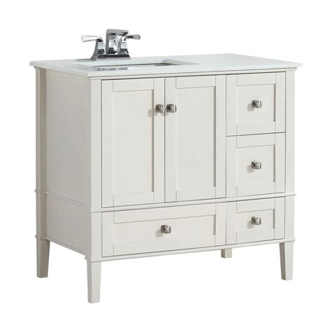 home depot sink tops simpli home chelsea 36 in w vanity in soft white with