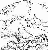 Sunset Mountain Drawing Coloring Pages Getdrawings sketch template