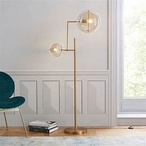 Jamie harris floor lamp west elm for Captured glass floor lamp