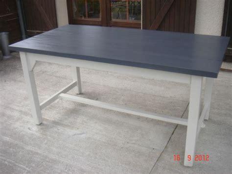 peinture pour cuisine rustique rénovation table de ferme le de elsa