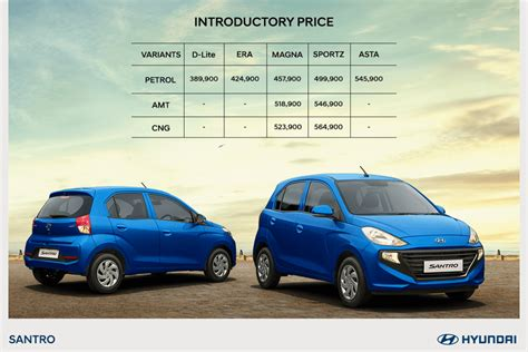 Price Of New by All New Hyundai Santro 2018 Price Model Cng Petrol