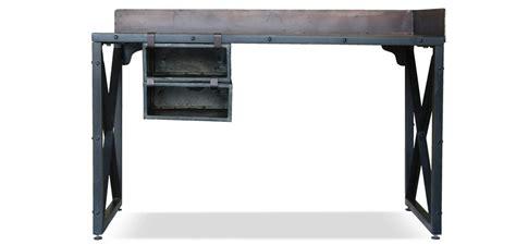 bureau acier bureau vintage industriel acier pas cher