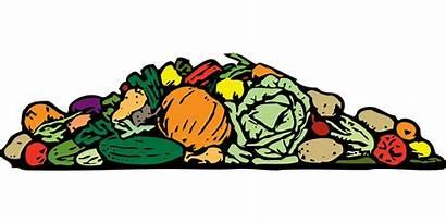 Vegetables Pile Clipart Variety Compost Cartoon Transparent