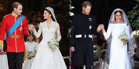 meghan  kate   comparing   royal weddings