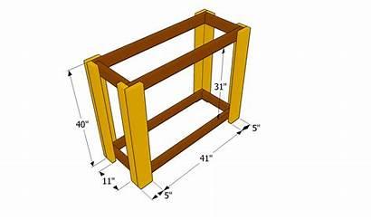 Bar Plans Outdoor Legs Attaching Diy Wooden