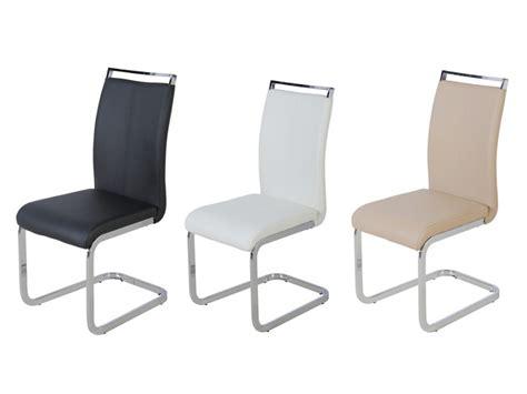 lot de 4 chaises lot de 4 chaises en simili noir blanc ou beige