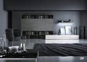 12 black and white grey living room interior design ideas
