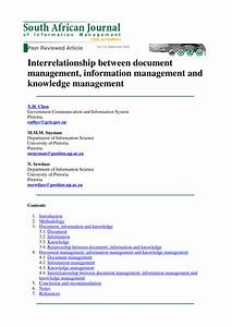 interrelationship between document pdf download available With documents and knowledge management
