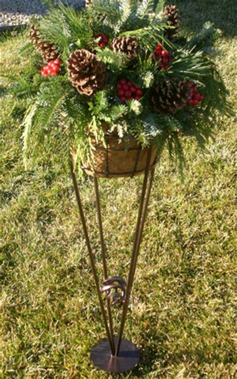 plant favorites garden  cemetery plant stands  flower holders