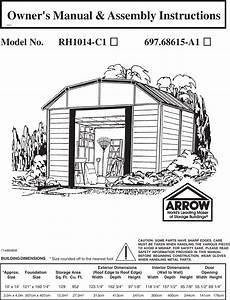 Arrow Storage Products Rh1014 C1 Users Manual English