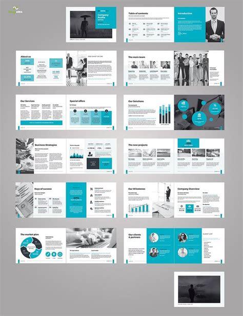 landscape company profile brochure design layout
