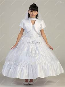 Beautiful White Flower Girls Dresses Special Neckline Tea Length Little Girls Wedding Party Dresses