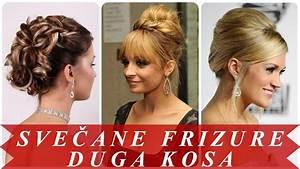 Svecane frizure za dugu kosu za žene - YouTube