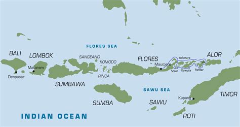 flores indonesia map