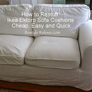 Restyle Relove How To Restuff Ikea Ektorp Sofa Cushions