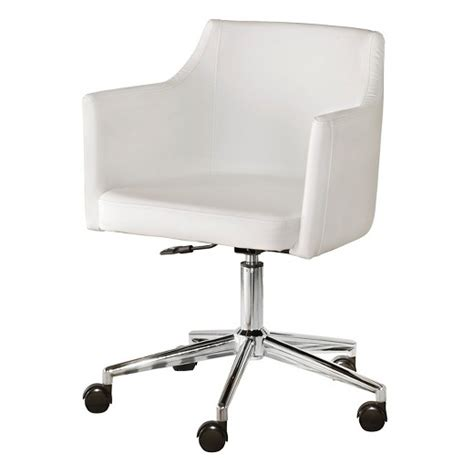 white home office chair baraga home office swivel desk chair white signature
