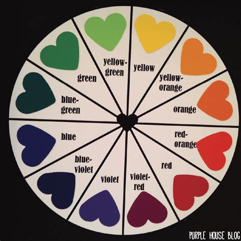 diy paint swatch color wheel purple house