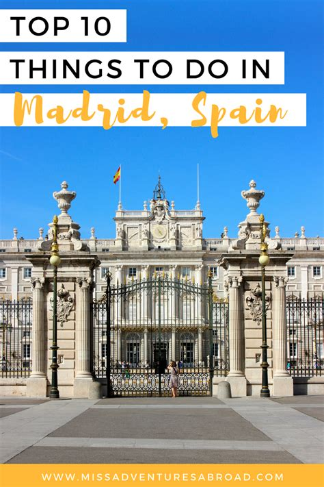 Must Do Madrid The Top 10 Things To Do In Spains Capital