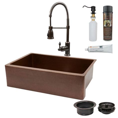 all in one sink premier copper products all in one undermount copper 33 in