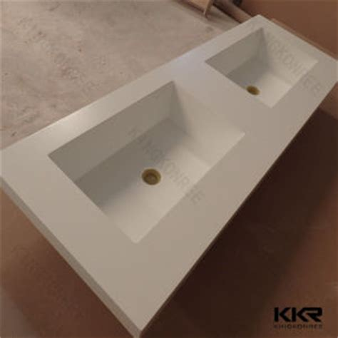bathroom countertop with built in sink china prefab solid surface bathroom countertops with built